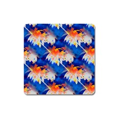 Palm Trees Tropical Beach Sunset Magnet (square) by CrypticFragmentsColors