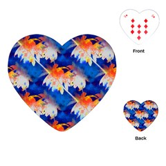 Palm Trees Tropical Beach Sunset Playing Cards (heart)