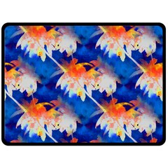 Palm Trees Tropical Beach Sunset Fleece Blanket (large) by CrypticFragmentsColors