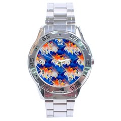 Palm Trees Tropical Beach Sunset Stainless Steel Analogue Watch by CrypticFragmentsColors