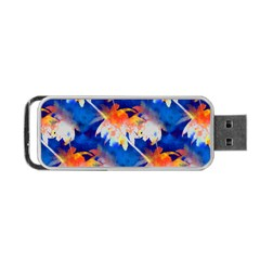Palm Trees Tropical Beach Sunset Portable Usb Flash (two Sides) by CrypticFragmentsColors