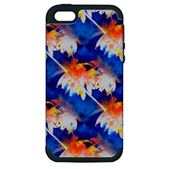 Palm Trees Tropical Beach Sunset Apple Iphone 5 Hardshell Case (pc+silicone) by CrypticFragmentsColors