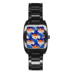Palm Trees Tropical Beach Sunset Stainless Steel Barrel Watch by CrypticFragmentsColors