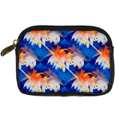 Palm Trees Tropical Beach Sunset Digital Camera Leather Case by CrypticFragmentsColors