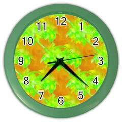 Coconut Palm Trees Caribbean Vibe Color Wall Clock