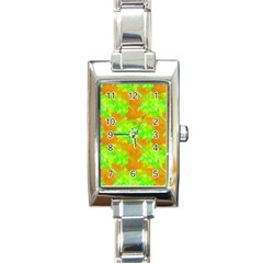 Coconut Palm Trees Caribbean Vibe Rectangle Italian Charm Watch