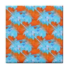 Coconut Palm Trees Tropical Dawn Tile Coasters by CrypticFragmentsColors