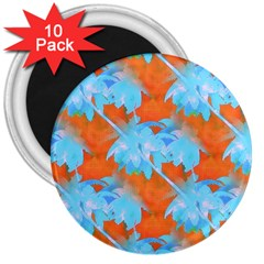 Coconut Palm Trees Tropical Dawn 3  Magnets (10 Pack)