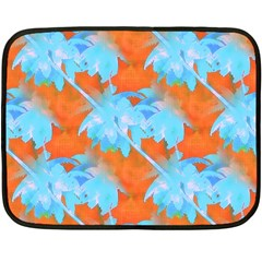 Coconut Palm Trees Tropical Dawn Fleece Blanket (mini) by CrypticFragmentsColors