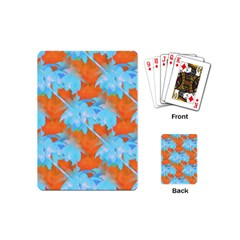 Coconut Palm Trees Tropical Dawn Playing Cards (mini)  by CrypticFragmentsColors