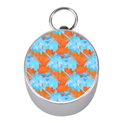 Coconut Palm Trees Tropical Dawn Mini Silver Compasses by CrypticFragmentsColors