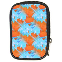 Coconut Palm Trees Tropical Dawn Compact Camera Cases by CrypticFragmentsColors