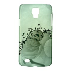 Elegant, Decorative Floral Design In Soft Green Colors Samsung Galaxy S4 Active (i9295) Hardshell Case by FantasyWorld7