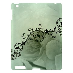 Elegant, Decorative Floral Design In Soft Green Colors Apple Ipad 3/4 Hardshell Case by FantasyWorld7