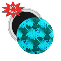 Coconut Palm Trees Caribbean Sea 2 25  Magnets (100 Pack)  by CrypticFragmentsColors
