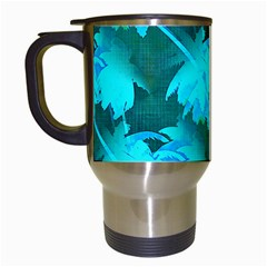 Coconut Palm Trees Caribbean Sea Travel Mugs (white) by CrypticFragmentsColors
