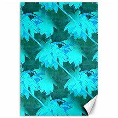 Coconut Palm Trees Caribbean Sea Canvas 12  X 18   by CrypticFragmentsColors