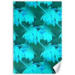 Coconut Palm Trees Caribbean Sea Canvas 24  X 36  by CrypticFragmentsColors