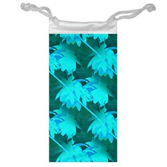 Coconut Palm Trees Caribbean Sea Jewelry Bags by CrypticFragmentsColors