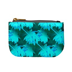 Coconut Palm Trees Caribbean Sea Mini Coin Purses by CrypticFragmentsColors