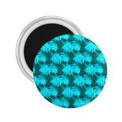 Coconut Palm Trees Blue Green Sea Small Print 2 25  Magnets by CrypticFragmentsColors