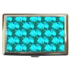 Coconut Palm Trees Blue Green Sea Small Print Cigarette Money Cases by CrypticFragmentsColors