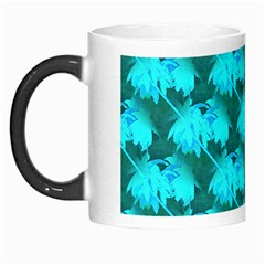 Coconut Palm Trees Blue Green Sea Small Print Morph Mugs by CrypticFragmentsColors