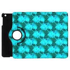 Coconut Palm Trees Blue Green Sea Small Print Apple Ipad Mini Flip 360 Case by CrypticFragmentsColors
