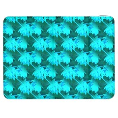 Coconut Palm Trees Blue Green Sea Small Print Samsung Galaxy Tab 7  P1000 Flip Case by CrypticFragmentsColors