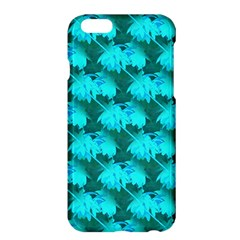 Coconut Palm Trees Blue Green Sea Small Print Apple Iphone 6 Plus/6s Plus Hardshell Case by CrypticFragmentsColors