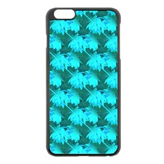 Coconut Palm Trees Blue Green Sea Small Print Apple Iphone 6 Plus/6s Plus Black Enamel Case by CrypticFragmentsColors