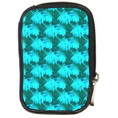 Coconut Palm Trees Blue Green Sea Small Print Compact Camera Cases by CrypticFragmentsColors