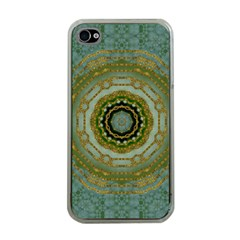 Modern Fantasy Rococo Flower And Lilies Apple Iphone 4 Case (clear) by pepitasart