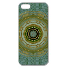 Modern Fantasy Rococo Flower And Lilies Apple Seamless Iphone 5 Case (clear) by pepitasart