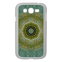 Modern Fantasy Rococo Flower And Lilies Samsung Galaxy Grand Duos I9082 Case (white) by pepitasart