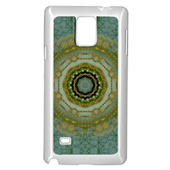 Modern Fantasy Rococo Flower And Lilies Samsung Galaxy Note 4 Case (white) by pepitasart