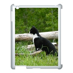 Farm Cat Apple Ipad 3/4 Case (white) by IIPhotographyAndDesigns