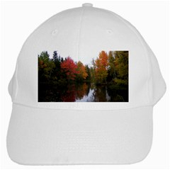 Autumn Pond White Cap by IIPhotographyAndDesigns