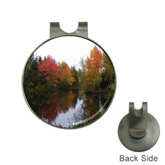 Autumn Pond Hat Clips With Golf Markers by IIPhotographyAndDesigns