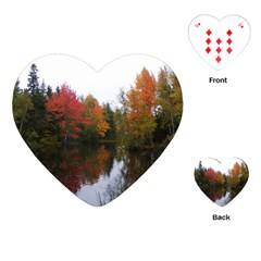 Autumn Pond Playing Cards (heart)  by IIPhotographyAndDesigns