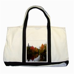 Autumn Pond Two Tone Tote Bag by IIPhotographyAndDesigns