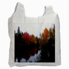Autumn Pond Recycle Bag (two Side)  by IIPhotographyAndDesigns
