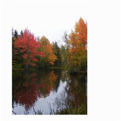 Autumn Pond Small Garden Flag (two Sides) by IIPhotographyAndDesigns