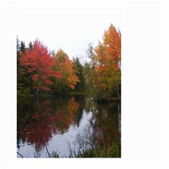 Autumn Pond Large Garden Flag (two Sides) by IIPhotographyAndDesigns