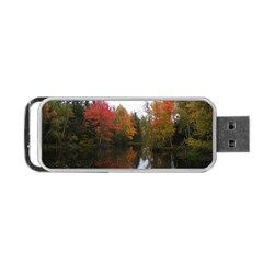 Autumn Pond Portable Usb Flash (one Side) by IIPhotographyAndDesigns