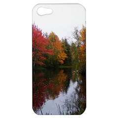 Autumn Pond Apple Iphone 5 Hardshell Case by IIPhotographyAndDesigns