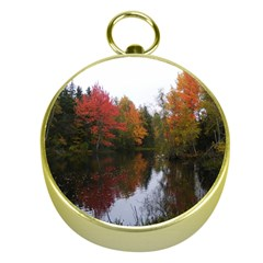 Autumn Pond Gold Compasses by IIPhotographyAndDesigns
