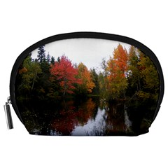 Autumn Pond Accessory Pouches (large)  by IIPhotographyAndDesigns