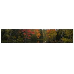 Autumn Pond Large Flano Scarf  by IIPhotographyAndDesigns