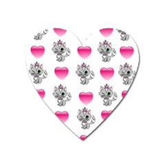 Evil Sweetheart Kitty Heart Magnet by IIPhotographyAndDesigns